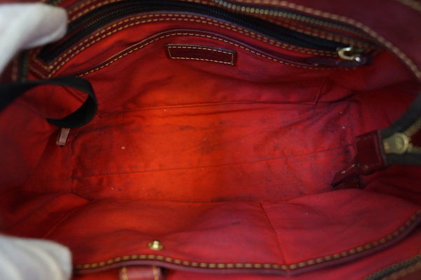 Dooney and Bourke Bags - Leather Red Shoulder Hobo Bag - inside view