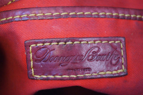 Dooney and Bourke Bags - Leather Red Shoulder Hobo Bag - brand logo
