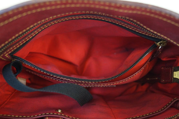 Dooney and Bourke Bags - Leather Red Shoulder Hobo Bag - inside look