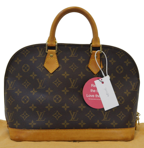 LOUIS VUITTON Monogram Canvas Alma Satchel