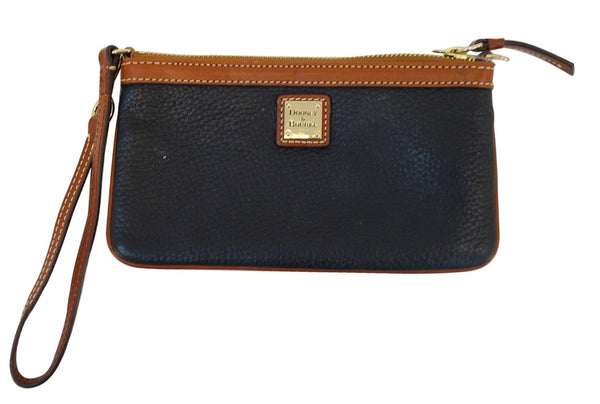 DOONEY & BOURKE Leather Black Zippy Pouch