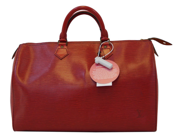 LOUIS VUITTON Epi Leather Red Speedy 35 Satchel Handbag