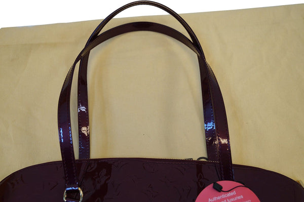 LOUIS VUITTON Avalon Rouge Fauviste Vernis Zip Shoulder Tote Bag