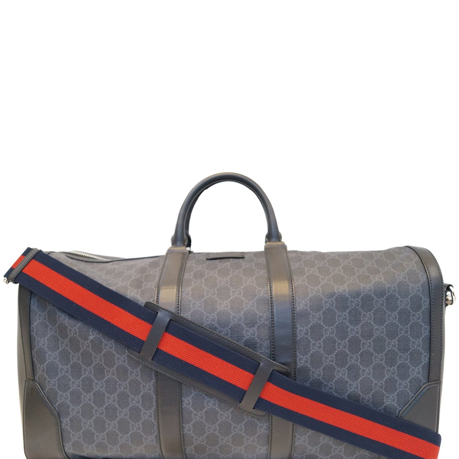 7a094c54fb3f6f GUCCI Black Soft GG Supreme carry-on Duffle Travel Bag 478323
