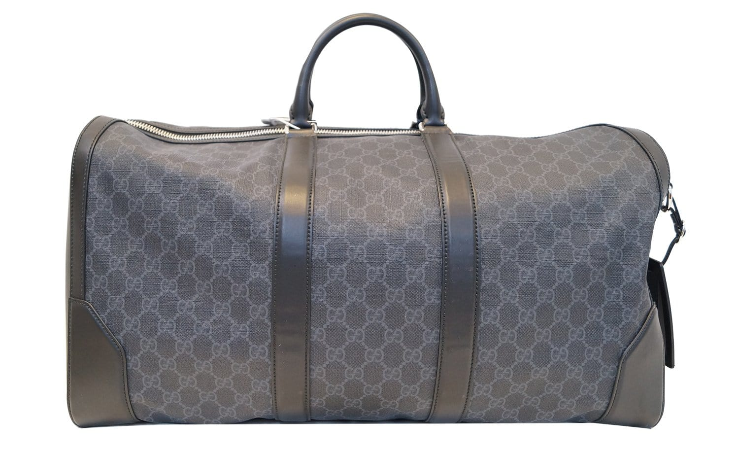 aa2bbe6384f2 GUCCI Black Soft GG Supreme carry-on Duffle Travel Bag 478323