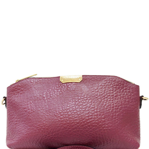 BURBERRY Embossed Leather Chichester Crossbody Bag