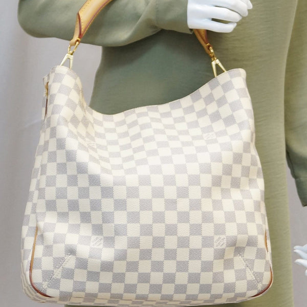 LOUIS VUITTON Damier Azur Soffi White Shoulder Handbag - 20% Off