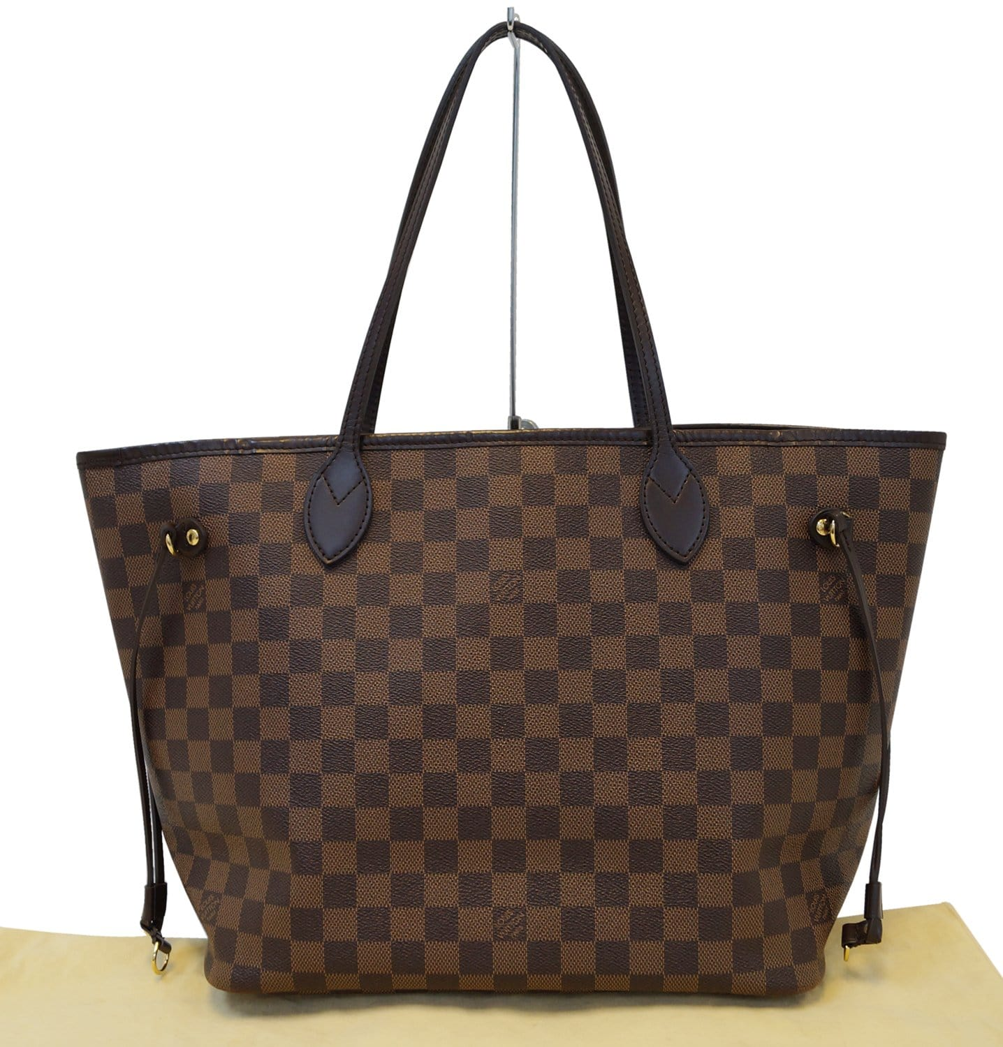 e8cc6f60083d Authentic LOUIS VUITTON Neverfull MM Damier Ebene Pink Tote Bag ...