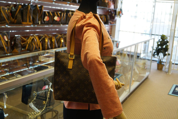 LOUIS VUITTON Monogram Canvas Brown Piano Cabas Tote Bag - 30% Off