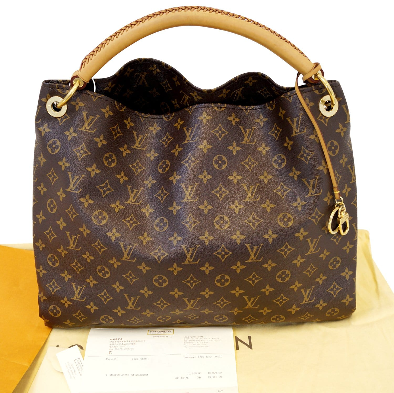 210547c44b8f Authentic LOUIS VUITTON Monogram Artsy GM Tote Hobo Handbag Limited E3