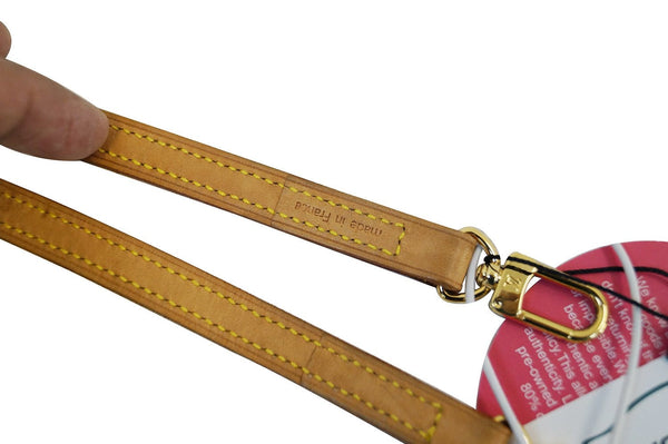 LOUIS VUITTON Leather Beige Shoulder Strap For Eva and Similar Styles