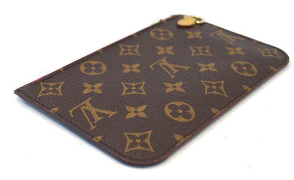 LOUIS VUITTON Monogram Neverfull PM Pochette Wristlet Clutch