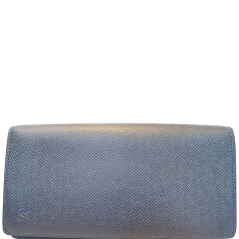 LOUIS VUITTON Brazza Black Taiga Leather Wallet