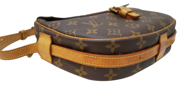 Authentic LOUIS VUITTON Monogram Canvas Jeune Fille MM Crossbody TT1588