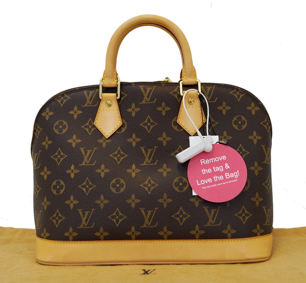 LOUIS VUITTON Monogram Canvas Alma Brown Satchel Handbag