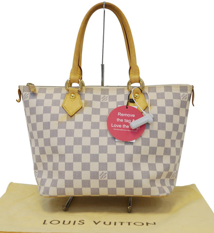 LOUIS VUITTON Damier Azur Canvas White Saleya PM Shoulder Bag - Final Call