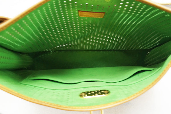 Authentic LOUIS VUITTON Monogram Perforated Musette Green Bag Limited Edition E3497