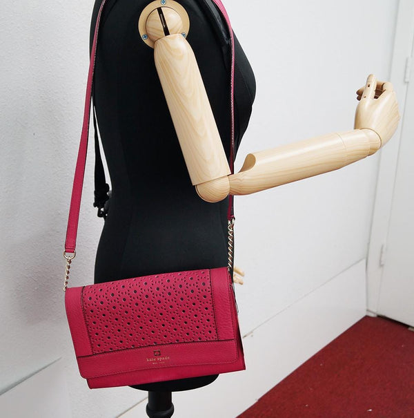 Kate Spade Kari Perri Lane Pink Leather Crossbody Shoulder Bag TT391