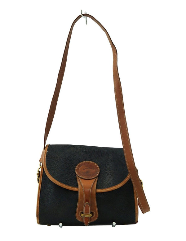 Vintage Dooney & Bourke Pebbled Leather Flap Shoulder Handbag - Sale