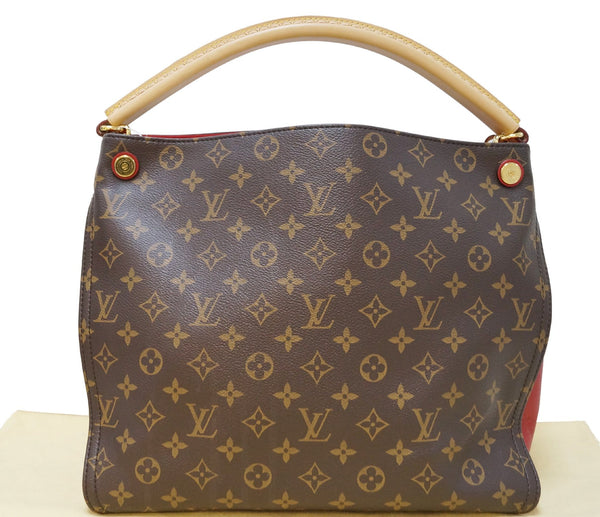 Authentic LOUIS VUITTON Monogram Canvas Cerise Gaia Red Shoulder Bag E3693