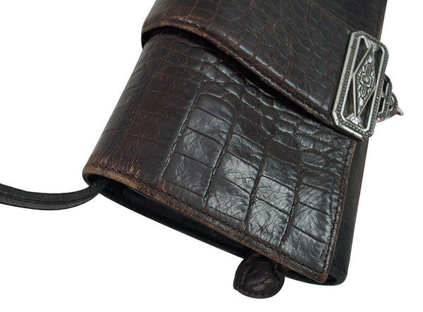 Brighton Leather Organizer CrossBody Purse Wallet - Final Call