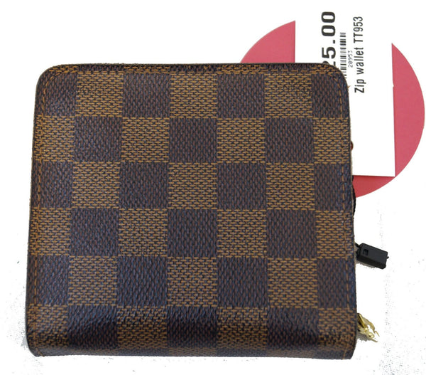 LOUIS VUITTON Damier Canvas leather Compact Zip Wallet