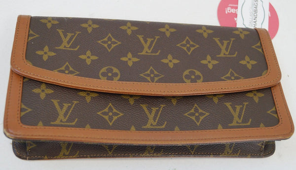 LOUIS VUITTON Monogram Pochette Dame PM Clutch Handbag