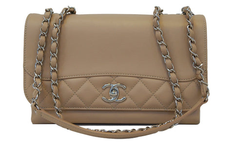 Rare CHANEL Classic Quilted Leather Double Chain CC Shoulder Bag - 30% Off
