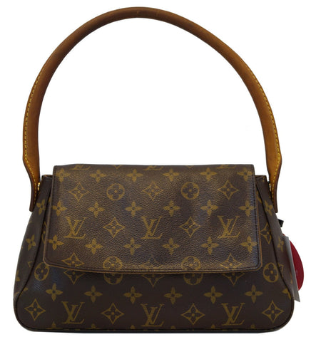 LOUIS VUITTON Monogram Canvas Looping Brown Satchel Handbag