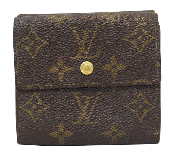 LOUIS VUITTON Brown Elise Bifold Two In One Custom Made Wallet
