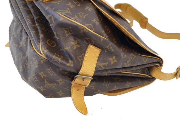 LOUIS VUITTON Monogram Canvas Saumur 43 Shoulder Bag