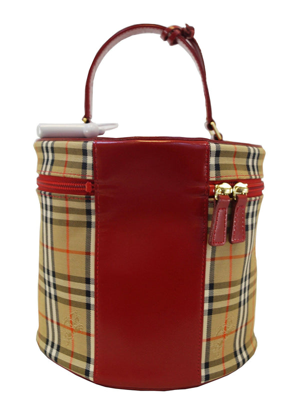 Burberry Nova Check Plaid Pattern Canvas Vanity Bag - Final Call