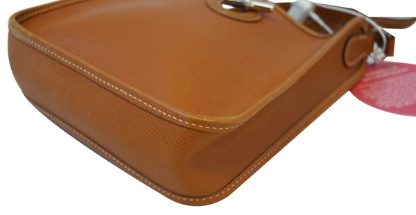 Hermes Brown Epsom Leather Vespa TPM Messenger Bag