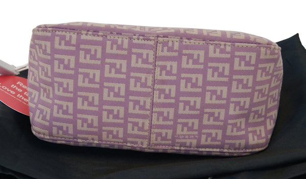 FENDI FF Zucchino Lilac Lavender Baguette Bag - Final Call