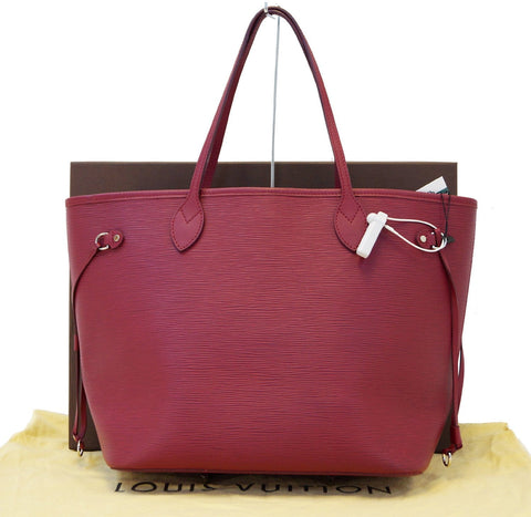 LOUIS VUITTON Fuchsia Epi Leather Neverfull MM Tote Bag