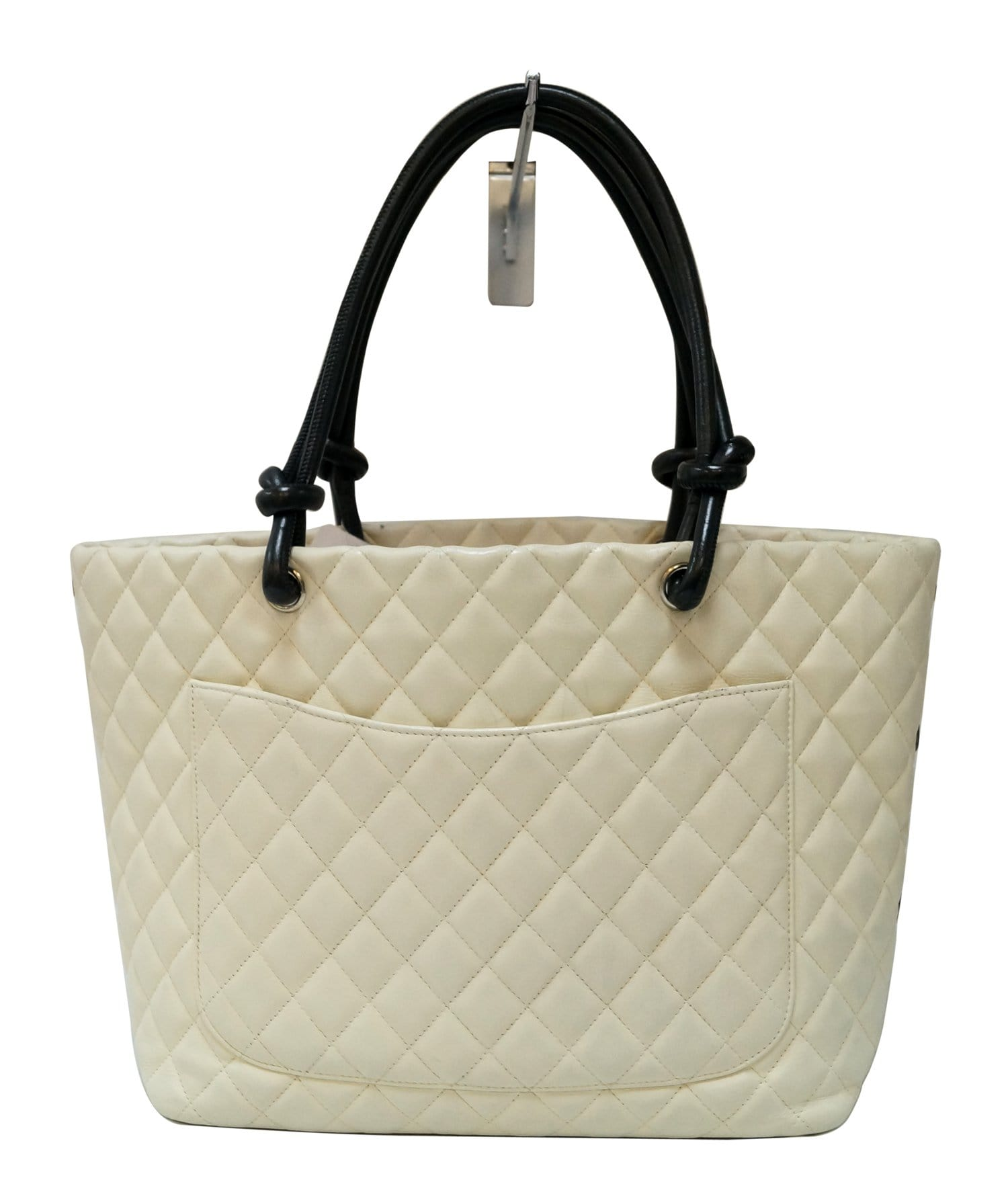 a7bbd2e93c4708 CHANEL White Quilted Leather Ligne Cambon Tote Bag
