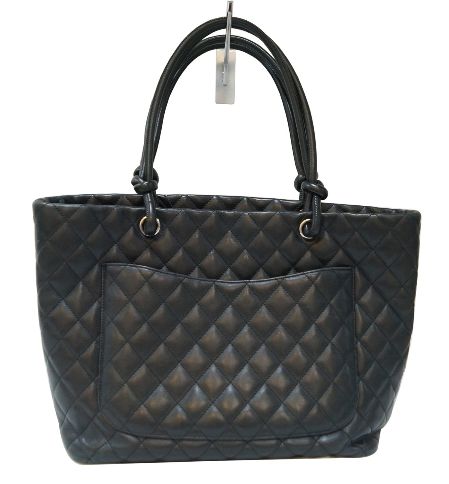 1c6218fc72d2 CHANEL Black Quilted Leather Large Cambon Tote Bag