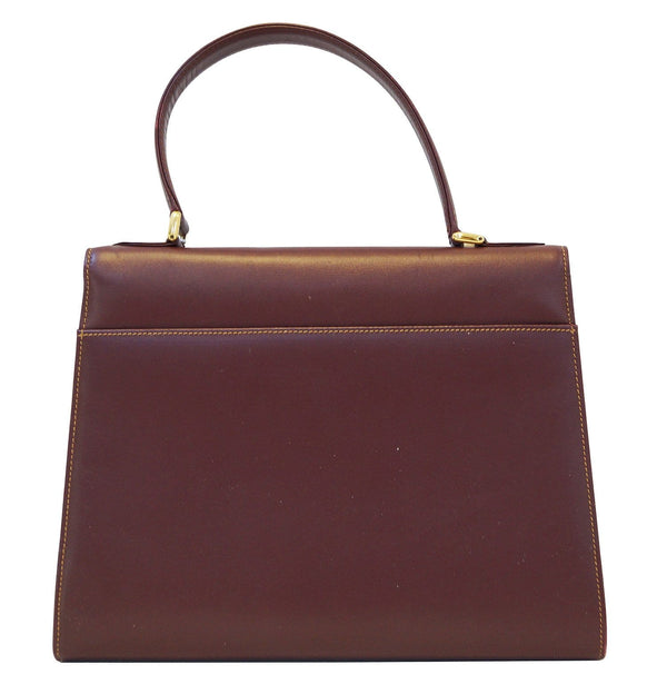 Cartier Must Bordeaux Leather Handbag - Final Call