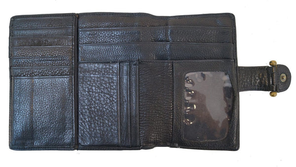 FOSSIL Trifold Black Leather Wallet - Final Call