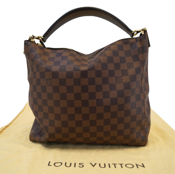 LOUIS VUITTON Damier Ebene Portobello Shoulder Handbag