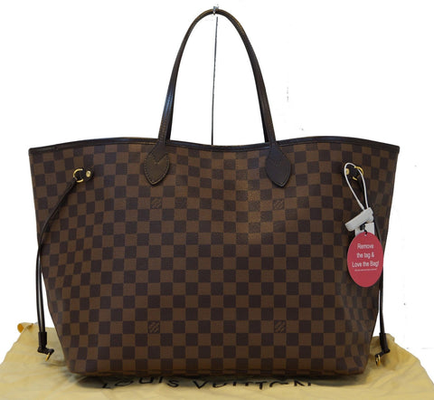 LOUIS VUITTON Damier Ebene Neverfull GM Brown Tote Bag