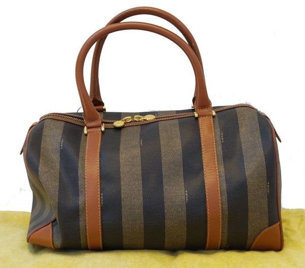 FENDI Bag - Fendi Brown Leather Satchel Handbag - bag strip