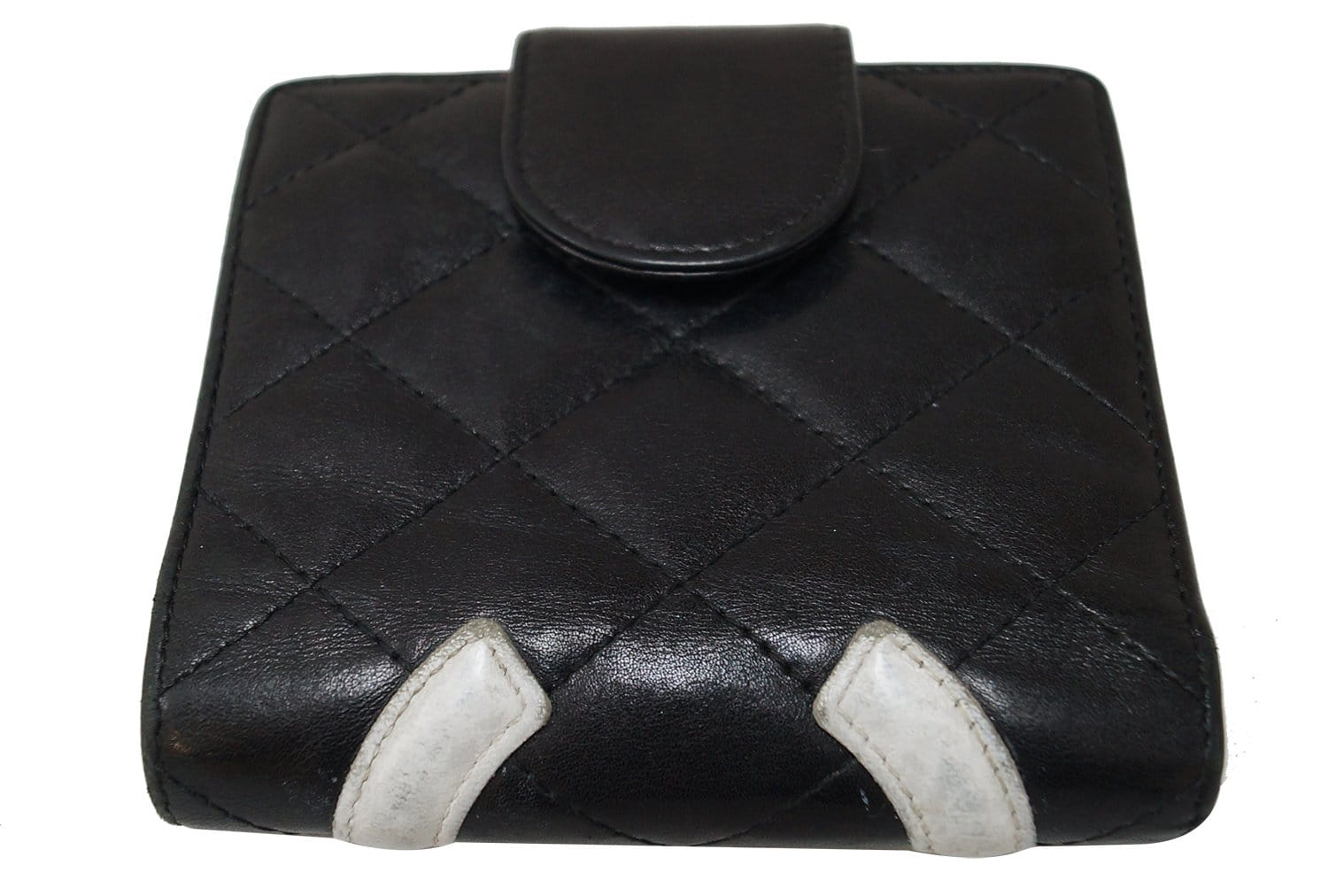 902d736596d6 CHANEL Black Quilted Ligne Cambon Bifold Compact Wallet