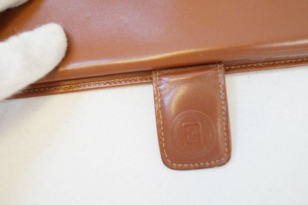 FENDI Brown Leather Wallet