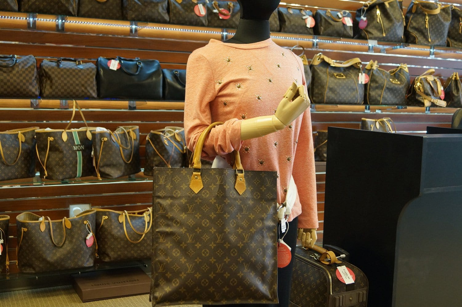 263591311dd8 LOUIS VUITTON Monogram Canvas Sac Plat Tote Bag
