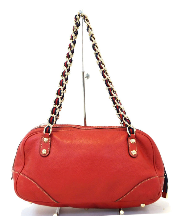 Gucci Shoulder Bag Cruise Red Leather Chain for women
