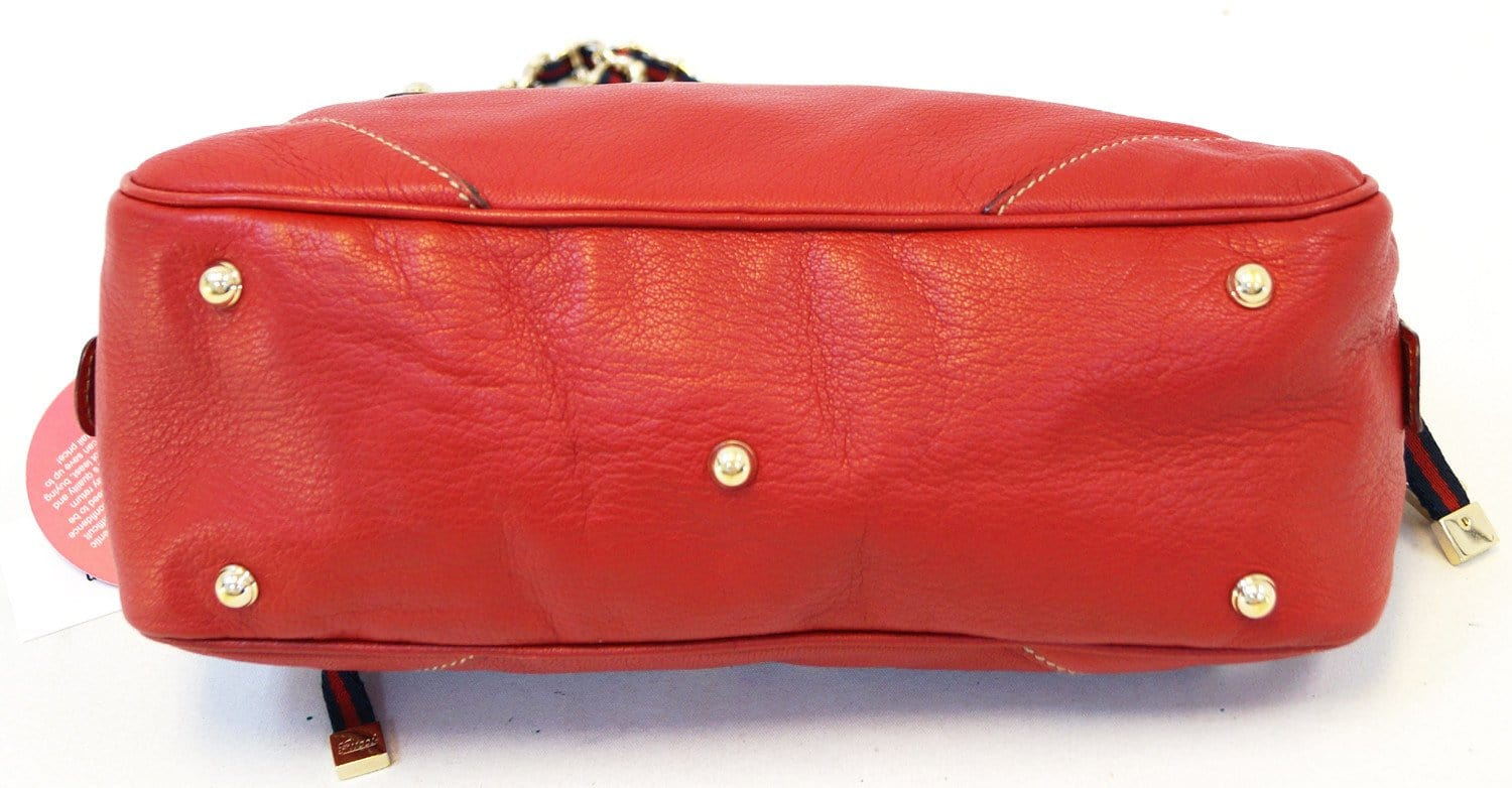 f04753e51 Gucci Shoulder Bag Cruise Red Leather Chain - gucci red bag
