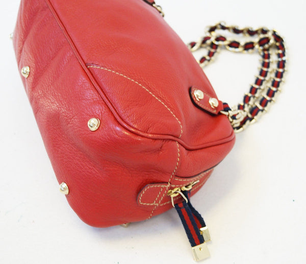 Gucci Shoulder Bag Cruise Red Leather Chain - gucci strap