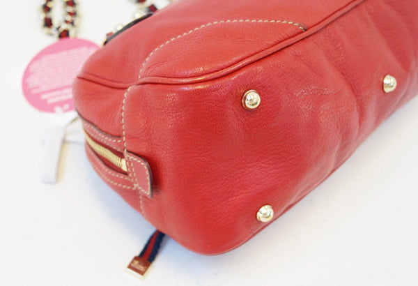 Gucci Shoulder Bag Cruise Red Leather Chain - gucci red