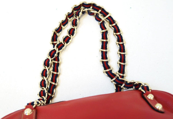 Gucci Shoulder Bag Cruise Red Leather Chain - gucci red chain